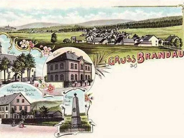 Brandov na historických pohlednicích.