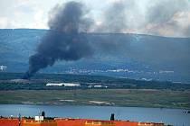 Tak vypadal požár skládky Celio například v roce 2014