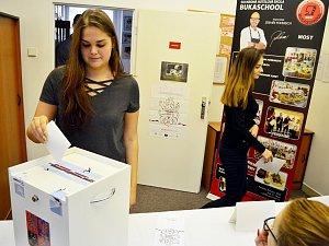 Studentské volby na Soukromé hotelové škole Bukaschool v Mostě