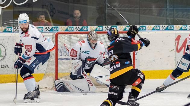 Druhý zápas play out Chomutov versus Litvínov.