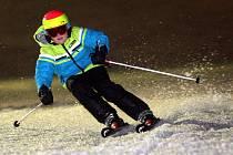 Noční lyžování.