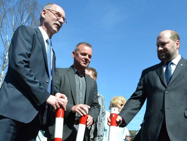 Otevření hraničního přechodu v Brandově.