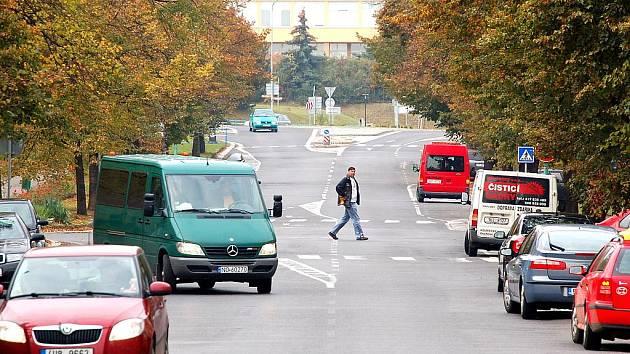 Skupova ulice v Mostě.