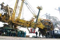 Důl na Mostecku.