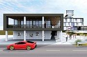 Studie nové restaurace na autodromu v Mostě
