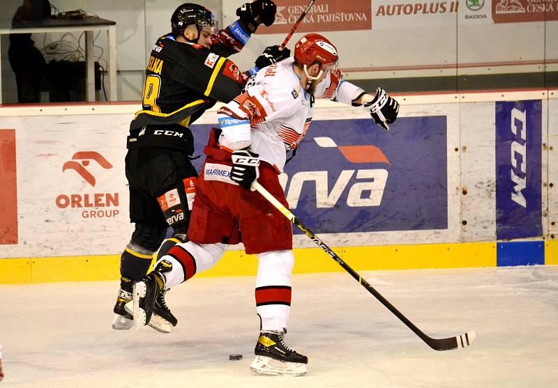Třetí zápas předkola play off mezi Litvínovem a Hradcem.