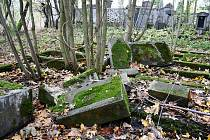 Část hřbitova v krušnohorském Brandově.