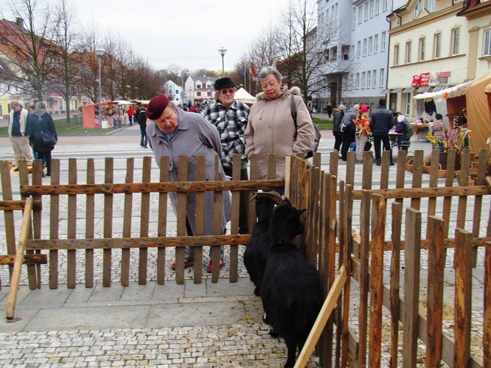 Na náměstí nechyběla ohrada se zvířaty.