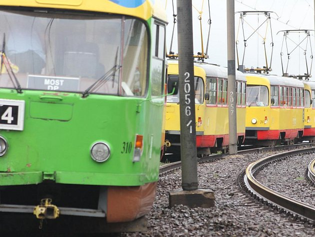 Tramvaje mosteckého dopravního podniku.