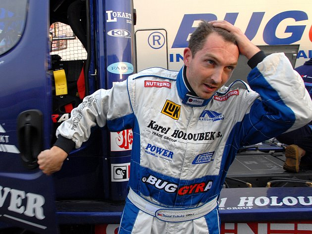 David Vršecký při testech na mosteckém autodromu.