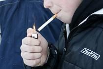 Dětský kuřák.