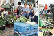 V Mostě se otevřou tři trhy najednou. Na archivní fotce zleva tržnice u Kosmosu, trh na 1. náměstí a bleší trh.