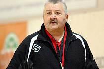 Trenér mosteckých házenkářek Tomáš Kuťka.