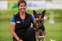 Jitka Duffková a její pes Alex z Kristova.