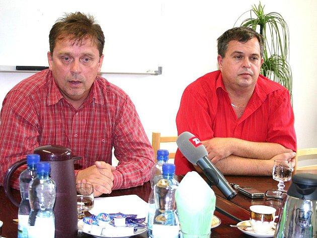 Kvůli útlumu těžby hnědého uhlí přijde v příštích čtyřech letech v těžařské skupině Czech Coal o práci asi 1400 lidí, řekl odborový předák horníků Jaromír Franta (vlevo).
