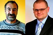 Starosta Radim Novák (vlevo) a poslanec David Kádner.