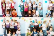 Žáci z 18.základní školy v Mostě již počtvrté namalovaly obrázky dětem nemocným rakovinou do pražské nemocnice v Motole.