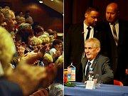 Prezident Miloš Zeman se 3. října setkal se seniory v mosteckém divadle