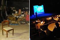 Vlevo městské kino Mír jako sklad. To byl rok 2013. A takto to vypadá teď. Provoz Studia3 zahájila přednáška Jana Buriana o Islandu.