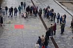V neděli 17. listopadu se u Repre v centru Mostu konal happening k 30. výročí sametové revoluce