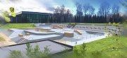 Vizualizace budoucího skateparku v Litvínově