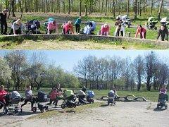 Cvičení na Šibeníku v Mostě.