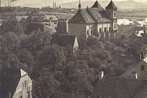 Voigtovy sady v minulosti s ovocnými stromy.