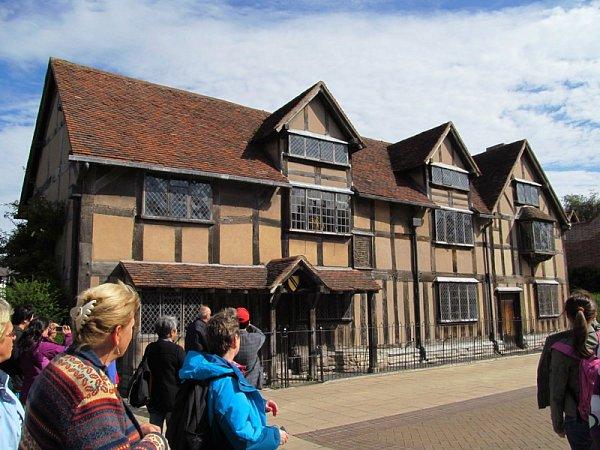 Rodný dům Williama Shakespeara vanglickém Stratfordu.