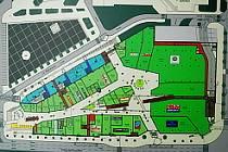 Mapka nového centra Mostu.