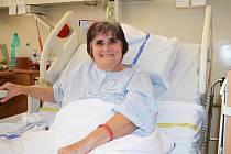 Pacientka Jaroslava Soukupová se na oddělení následné péče v Mostě - Zahražanech zotavuje z následků koronaviru.