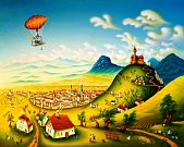 Obrazy malíře Eduarda Bárty z Mostu.