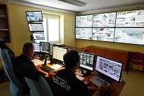 Operační středisko Městské policie Most.