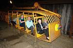 Podkrušnohorské technické muzeum představilo v úterý 29. června expozici závěsné důlní drážky.
