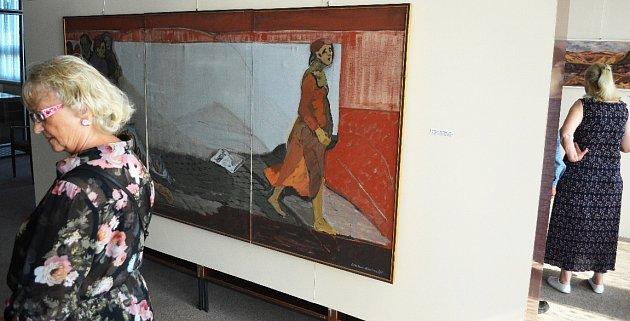 Výstava Malováno na uhlí vMostě.