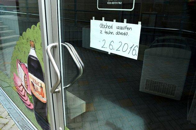Uzavřena ruská prodejna.