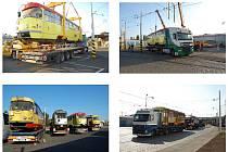 Odvoz tramvají z Mostu.