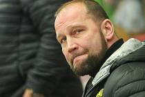 Litvínovský trenér Jiří Šlégr při zápase v Jihlavě.