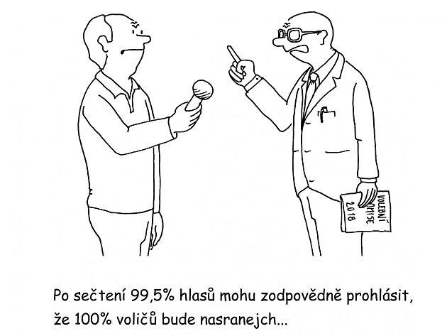 Severočeský karikaturista Václav Veverka glosoval volební dění vÚsteckém kraji tímto kresleným vtipem.