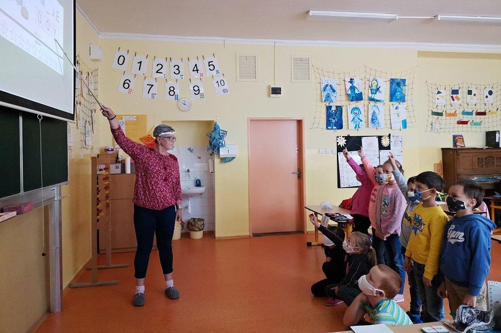 Výuka v ZŠ Litvínov - Hamr. Děti se do školy těšily