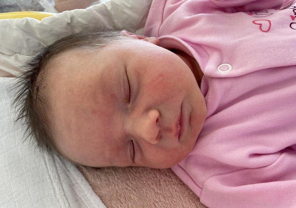 Natálie Kubínová se narodila mamince Michaele Niklové z Mostu 24. dubna v 19.30 hodin. Měřila 47 cm a vážila 2,97 kg.