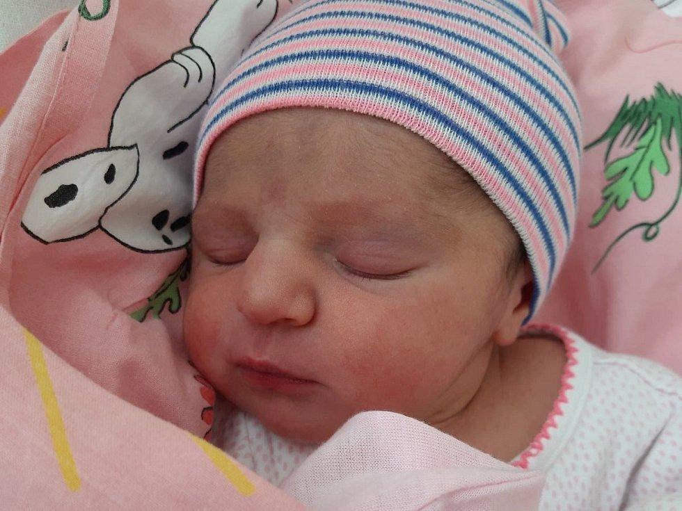 Elen Tumová se narodila mamince Petře Hájkové z Mostu 14. února v 18.30 hodin. Měřila 51 cm a vážila 3,15 kilogramu.