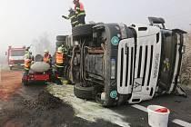 Skutečná havárie kamionu.