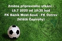 Prvním soupeřem fotbalistů FK Baník Most - Souš bude tým Ostrova nad Ohří.