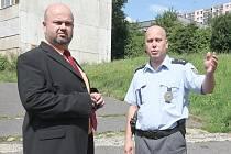 Ministr vnitra Martin Pecina při své návštěvě Janova.