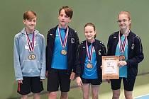 Badmintonisté Baníku Most startovali na turnajích v Pardubicích a v Liberci.
