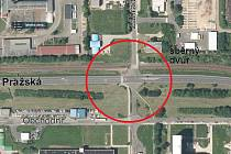 Tady, mezi Mostem a jeho částí Velebudice, se upraví silnice s přechodem.
