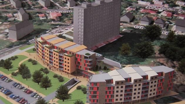 Studie vzhledu Zahražan: STANDARD GAMMA. Komplex má 116 bytů. Cena stavby: 350 milionů.