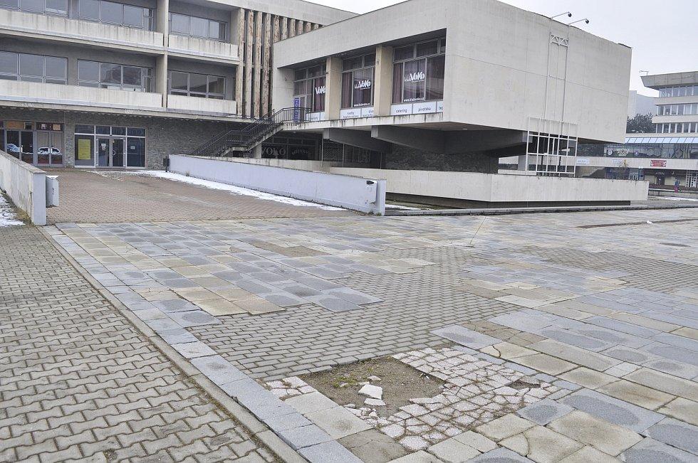 Zavřený městský kulturní dům Repre v Mostě v březnu 2021.