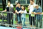 Klouzačka v centru Mostu, sobota 13. srpna.