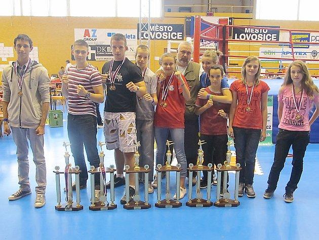 Kickboxeři z SK Leon Most.